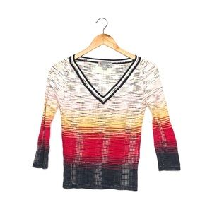 Authentic Vintage Missoni V-Neck Sweater Top